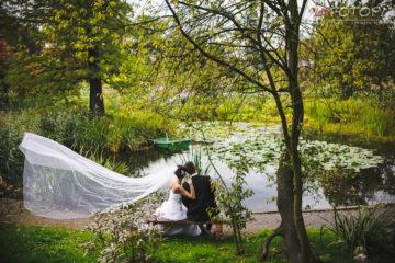 Sesja ślubna w ogrodzie botanicznym