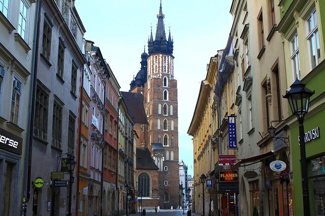 Ulica Floriańska i Kościół Mariacki